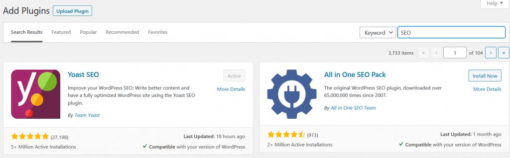 WordPress Plugins Keyword Search